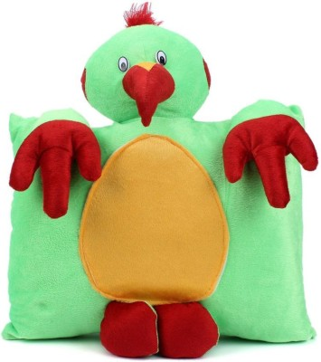 Tickles Parrot Cushion   33 cm Green Tickles Soft Toys