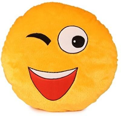 Skylofts Cool Winking Smiley Cushion Pillow   30 cm Yellow Skylofts Soft Toys