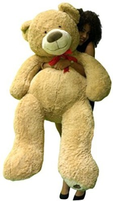 BigPlush Huge Soft Teddy Bear 5 Feet Tall Beige Color With Bigfoot  - 13.77 inch(Brown) at flipkart