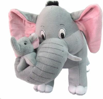 Tickles Mother Elephant   30 cm Grey Tickles Soft Toys