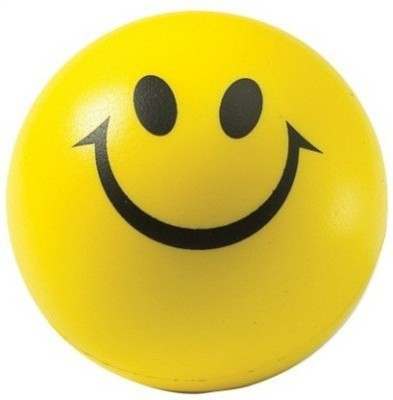 Options Smiley Stress Ball   3 inch Yellow Options Soft Toys