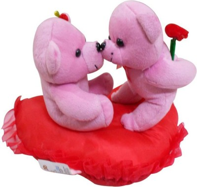 Dayzee Valentine Kissing Couple Pink On Heart   20 cm Pink[[Red Dayzee Soft Toys