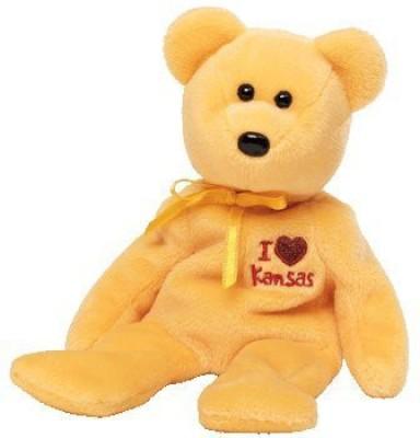TY Beanie Ba Kansas The Bear  I Love Kansas State Exclusive  Orange TY Soft Toys