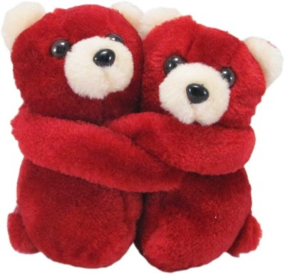 Tickles Hugging Couple Teddy   11 cm Red Tickles Soft Toys