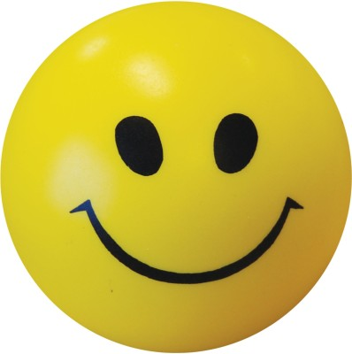 Bgroovy Smiley Face Squeeze Stress Ball   3 inch Yellow Bgroovy Soft Toys