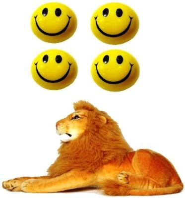 VRV Smiley Face Balls and Soft Toy Lion Wild Animal 32cm   15 cm Multicolor VRV Soft Toys