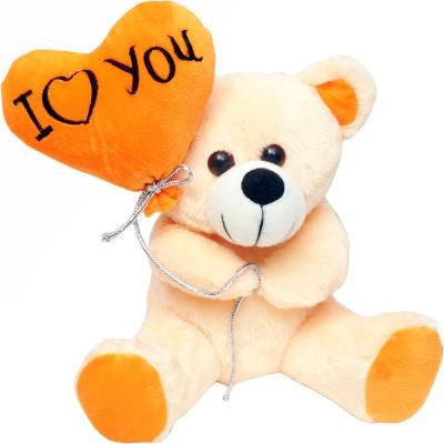 Teddy With Heart Shape Baloon - 30 cm