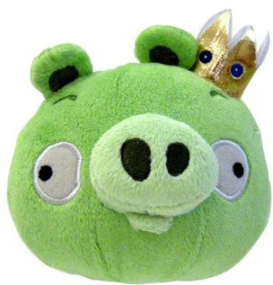 Angry Birds Plush 5Inch King Pig With Sound(Green)