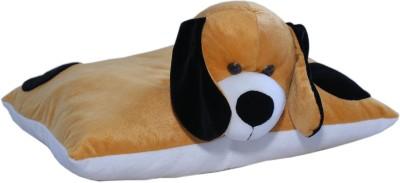AMARDEEP Dog Fun Pillow   15 cm Brown and Blacvk AMARDEEP Soft Toys