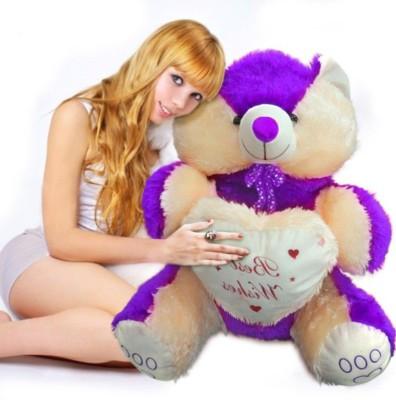 Ktkashish Toys kashish sweet purple teddy bear 22 inch   22 inch purple Ktkashish Toys Soft Toys