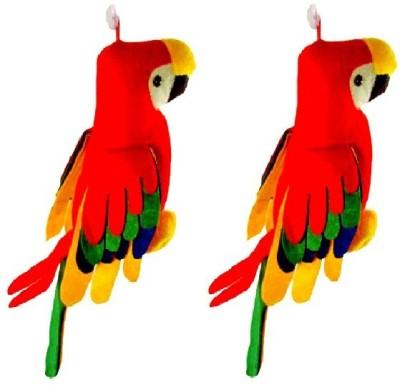 VRV Soft Toy Musical Parrot set of 2   15 cm Multicolor VRV Soft Toys