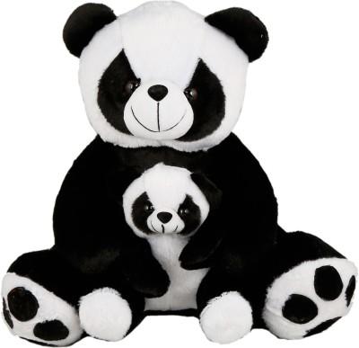 Sana Polar Bear With Little Baby cm 40   40 cm Black Sana Soft Toys