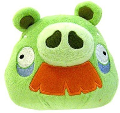 Angry Birds 8 Inch Deluxe Plush Grandpa Pig With Moustache(Green)