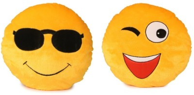 Skylofts Set of Cool Gogs   WInking Smiley Cushion   40 cm Yellow Skylofts Soft Toys