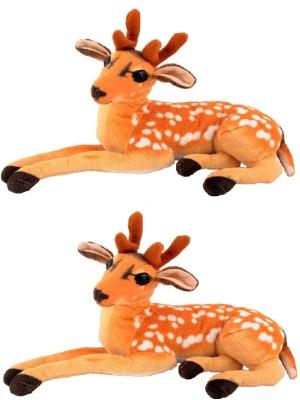 VRV Brown Soft Toy Deer Brothers   15 cm Multicolor VRV Soft Toys