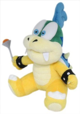 Sanei Super Mario Plush Series Larry Koopa Plush Doll7\ Yellow Sanei Soft Toys