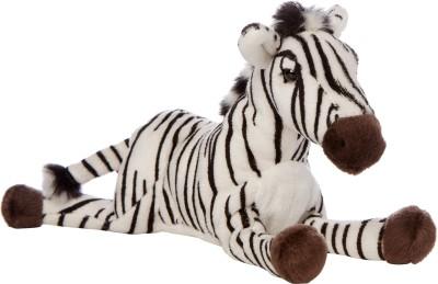 Hamleys Lying Animal   Zebra   8 inch Black, White Hamleys Soft Toys
