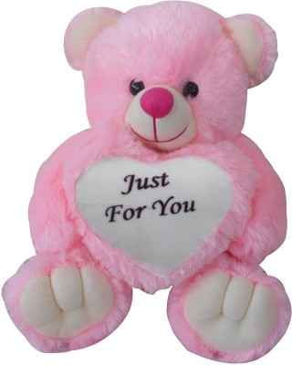 Saugat Traders Just For You Teddy Bear   40 cm Pink, White Saugat Traders Soft Toys