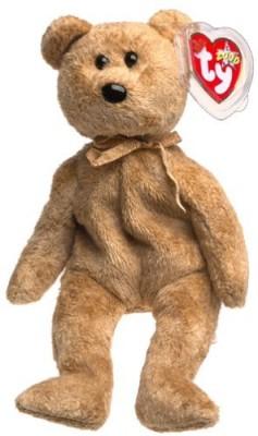 TY Beanie Babies Cashew The Bear(Brown)
