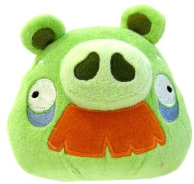 Angry Birds Plush 5Inch Grandpa Pig With Sound(Green)