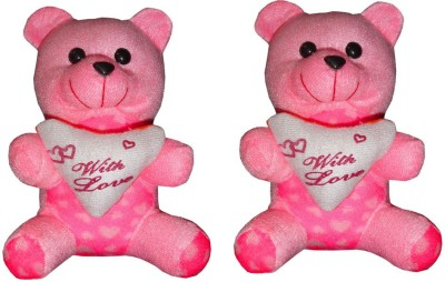 abfe8670b2af Atorakushon Atorakushon Pack of 2 18 Cm Aprrox Cute Heart Love Teddy Bear  Soft Stuffed Plush