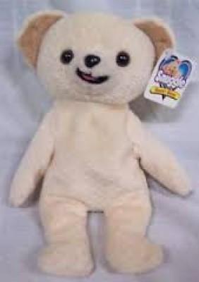 Snuggle Bear Mini Bean Bag 8\ White Snuggle Soft Toys