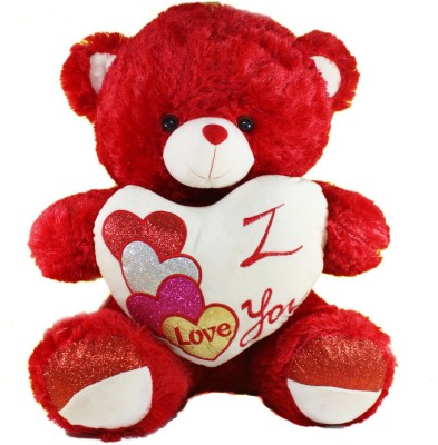 Tickles Teddy with I Love you Heart223   45 cm Red Tickles Soft Toys