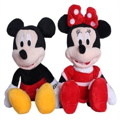 Meera's Mickey Mouse and Minnie Mouse beautiful gift for kids   9 inch Multicolor Meera's Soft Toys