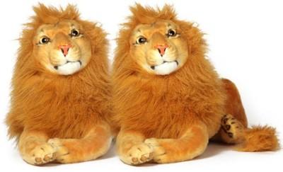 VRV Soft Wild Animal Lion 40cm Size Set of 2   20 cm Brown VRV Soft Toys