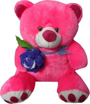 atorakushon ROSE SOFT TEDDY BEAR STUFFED PLUSH TOY LOVE VALENTINE COUPLE BIRTHDAY GIFT   35 cm Multicolor atorakushon Soft Toys