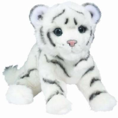 Douglas Cuddle Toys Silky White Tiger Cub   11.8 inch White Douglas Cuddle Toys Soft Toys