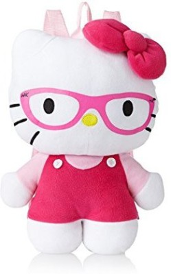Hello Kitty Plush Backpack Pink With Glasses  - 8 inch(White)