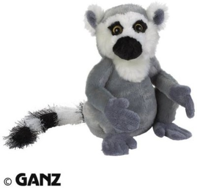 Webkinz Plush Animal Ring Tail Lemur School Bag Grey, 7 inch Webkinz School Bags