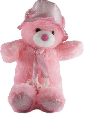 Tickles Cheerful Cap Teddy   70 cm Pink Tickles Soft Toys