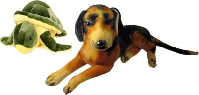 Alexus Sitting Dog And Turtle   32 cm Multicolor Alexus Soft Toys