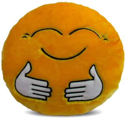 Deals India Deals India Yellow Hugging Smiley Cushion   35 Cm Smileye    10 cm Multicolor Deals India Soft Toys