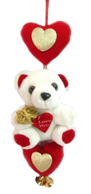 Tickles Valentine Teddy with Love   3 inch Red, White Tickles Soft Toys
