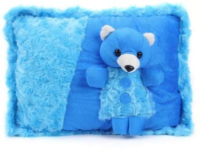 Tickles Beautiful Dressed Teddy Bear Cushion Soft Toy   38 cm Blue Tickles Soft Toys