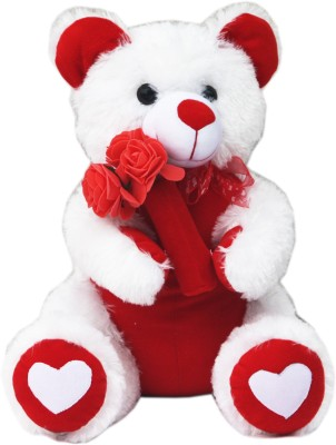 AMARDEEP Valentine Teddy   40 cm White AMARDEEP Soft Toys