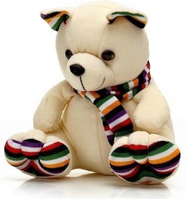 Dayzee Cute Beige Muffler Teddy   35 cm Beige Dayzee Soft Toys