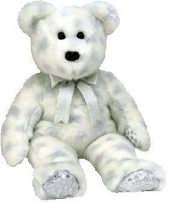 TY Beanie Babies The Beginning Bear(White)