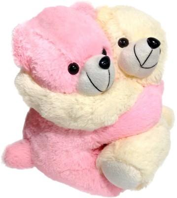 Ultra Cute Soft Toy Hugging Teddies   11 inch Pink, Cream Ultra Soft Toys