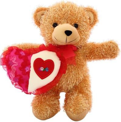 DEALbindaas Skoda Bear with Heart Valentine Soft Toy   30 cm Brown DEALbindaas Soft Toys