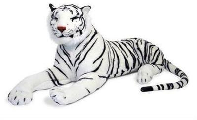 VRV VRV Soft Tiger White   20 cm white VRV Soft Toys