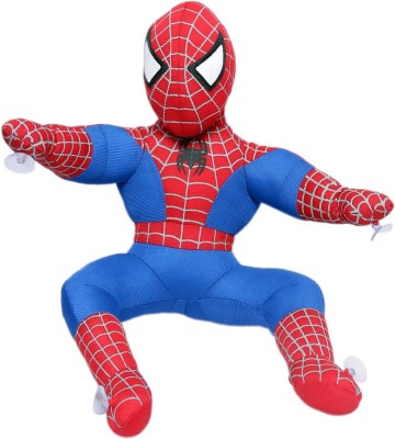 Bubble Hut Spiderman Sitting Soft Toy   14 inch Multicolor Bubble Hut Soft Toys