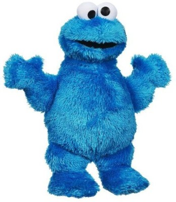 Baby Ronit Sesame Street Playskool Let's Cuddle Cookie Monster Plush   25 inch Multicolor Baby Ronit Soft Toys