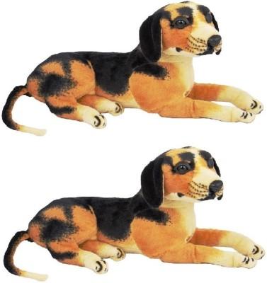 VRV Brown and Black Dog Soft Toys brothers   18 cm Brown VRV Soft Toys