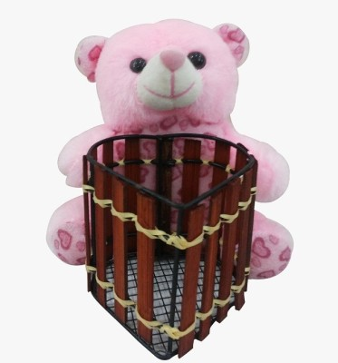Saugat Traders Teddy Bear Pen Stand   6.3 Inch Multicolor Saugat Traders Soft Toys