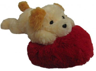 Tickles Dog on Heart Pillow   20 inch Multicolor Tickles Soft Toys