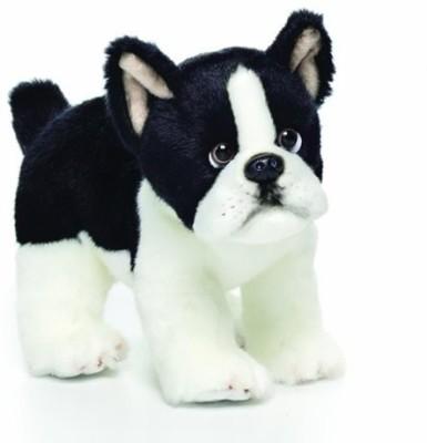 Nat And Jules Boston Terrier Plush Small School Bag White, 4 inch Nat And Jules School Bags